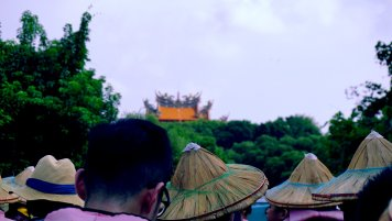 A randow temple, from a boat's view